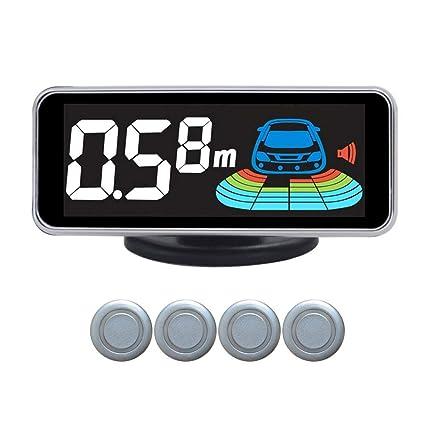 Sunronal Sistema de Alarma de Radar de Reserva Inversa del Sensor de estacionamiento del Coche Sistema