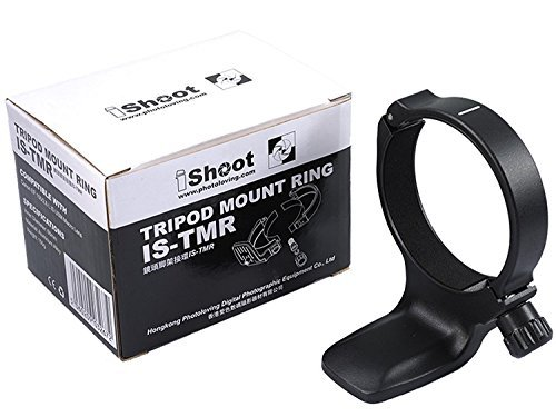 Metal Tripod Mount Ring, ISHOOT D Lens Collar Support for Canon EF 100mm f/2.8L IS USM Macro by iShoot