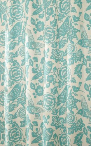 Mstyle MS8120 AQUA Birds Of A Feather Shower Curtain