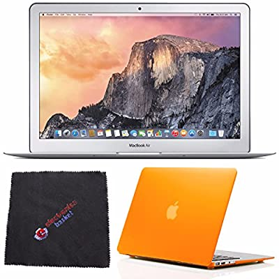"Apple 13.3"" MacBook Air Laptop Computer 256GB (MMGG2) + Frosted Orange Case for 13-inch Macbook Air + Microfiber Cleaning Cloth Bundle"