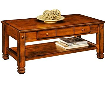 Captivating Summit Mountain Coffee Table, Rustic Oak Wood Carved Low Table TV Stand  Living Room