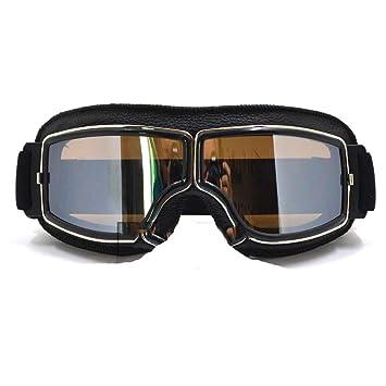 Retro Plegable Gafas de Moto Gafas de Plata Fram ...