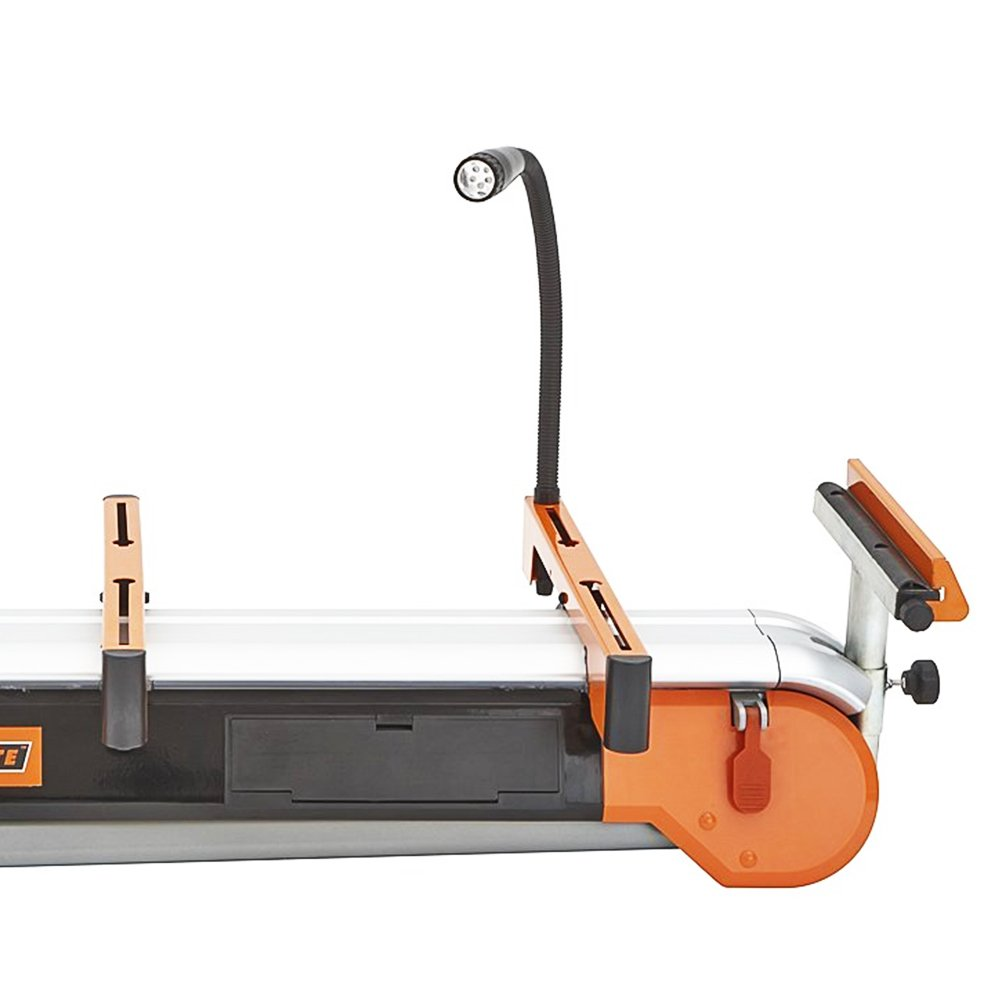 Folding Miter Saw Stand with Wheels Portamate PM-7500. Portable Power Tool Stand with Wheels, LED Light, Quick Tool Mounts and 4 Outlet 110V Power Strip. by PortaMate (Image #3)