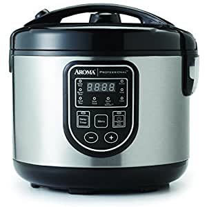 aroma housewares arc 980sb professional 20 cup cooked digital rice cooker multi. Black Bedroom Furniture Sets. Home Design Ideas