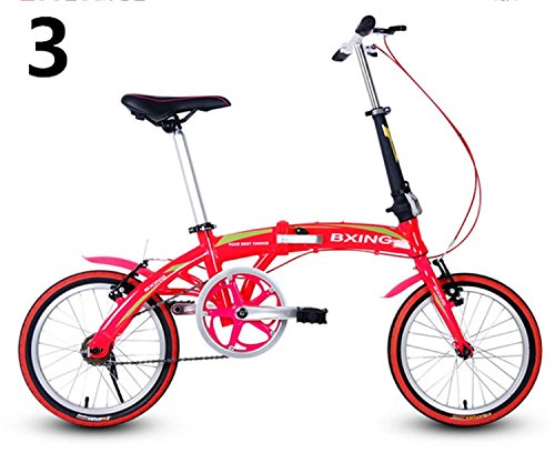 16インチ 折りたたみ自転車 折畳自転車 おりたたみ自転車 MTB おりたたみ自転車W688 B00QA16D1S レッド レッド