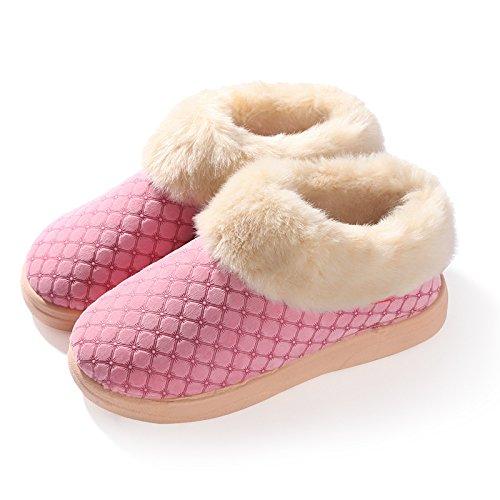 Cotone fankou pantofole inverno caldo uomini e donne anti-slip di cotone spessa scarpe alla fine del soggiorno ,45-46, polvere