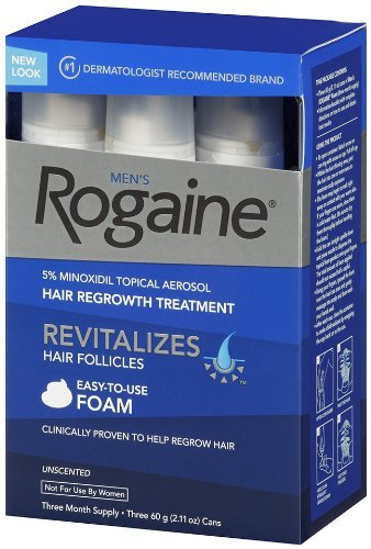 Rogaine for Men Hair Regrowth Treatment, Easy-to-Use Foam, 6 Month Supply (6 Packs- 2.11 oz Cans) by Rogaine