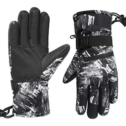 Suneed Waterproof Ski Gloves Touchscreen Winter Gloves Cold Weather Snow Gloves
