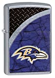 Zippo NFL Baltimore Ravens Street Chrome Pocket Lighter
