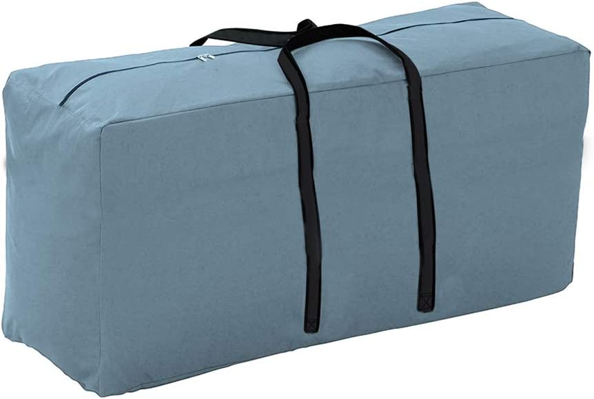 Yolaka Outdoor Patio Furniture Seat Cushions Storage Bag with Zipper and Handles 68x30x20 Inches Gray Waterproof