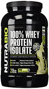 NutraBio 100% Whey Protein Isolate - 2 lbs Unflavored – NO Soy, NO Whey Concentrate, NO Amino Acid Spiking just 100% Pure WPI.