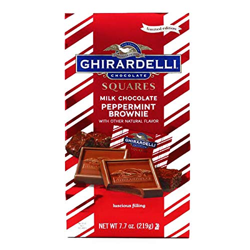 Peppermint Milk Chocolate Brownie Square Bag 7.7 oz each (1 Item Per Order, not per case) -
