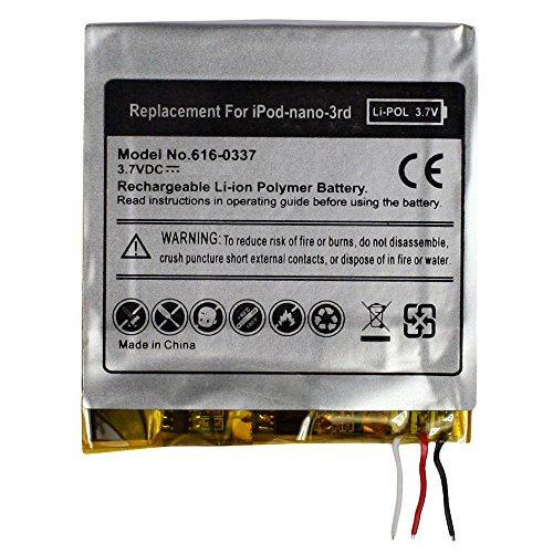 - Fenzer Replacement Rechargeable Battery for Apple iPod Nano 3rd 3 Gen Generation