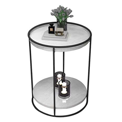 Amazon.com: 2-Tier Round Side Table/Living Room Coffee Table ...