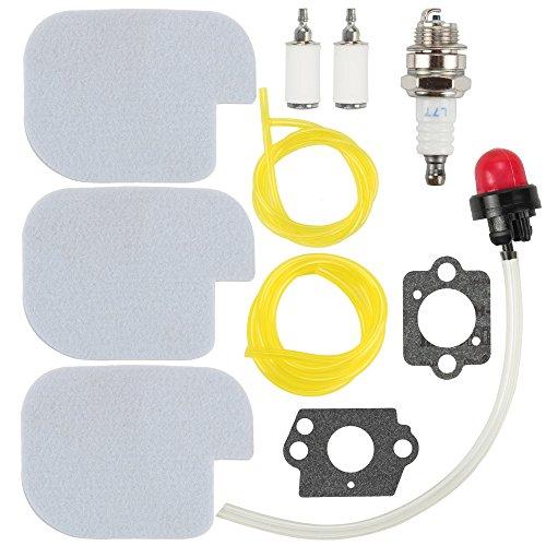 (Mckin 530057925 530069247 Air Filter 530095646 Fuel Filter with Fuel Line Spark Plug Gasket Primer Bulb for Poulan Craftsman Chainsaw P3314 P3416 P3816 P4018 PP3416 PP3516 PP3816 PP4018 PP4218 PPB3416)