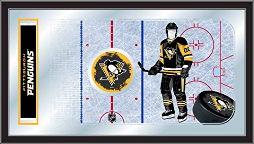 Holland Bar Stool Company NHL Pittsburgh Penguins 15x26-Inch Hockey Rink Mirror