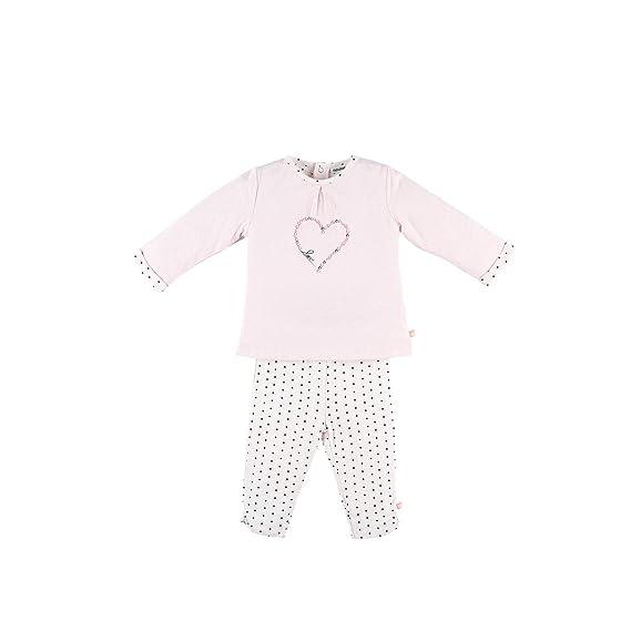 5e9ac3c767cc4 Noukies Z886143 Pyjama 2 pièces en Jersey doucle Face Enfant Fille ...