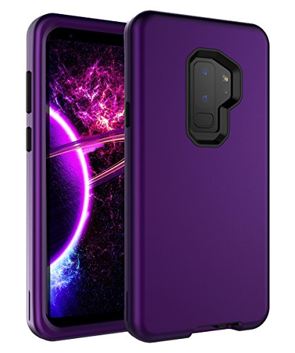SKYLMW Galaxy S9 Plus Case, Three Layer Full Body Heavy Duty Hybrid Sturdy Anti-Shock Cover High Impact Resistant Protective Case for Samsung Galaxy S9 Plus 2018 Purple