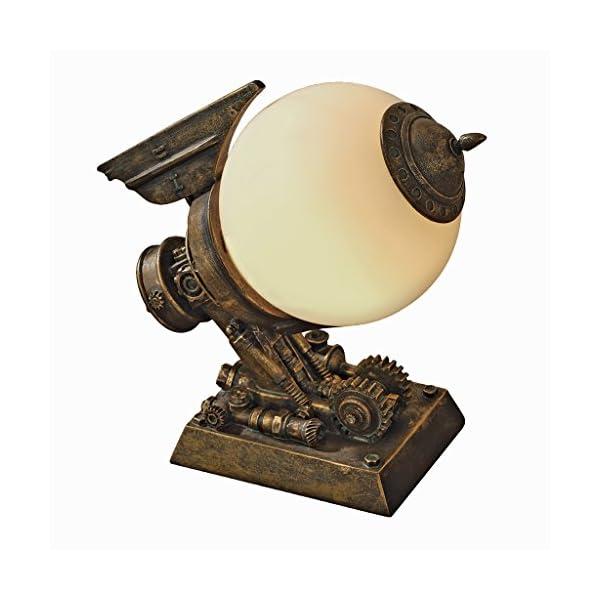 Design Toscano Steampunk Airship Illuminated Sculpture,Bronze 3