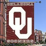 "NCAA Oklahoma Sooners 28""x40"" Crimson Banner Flag with White OU"