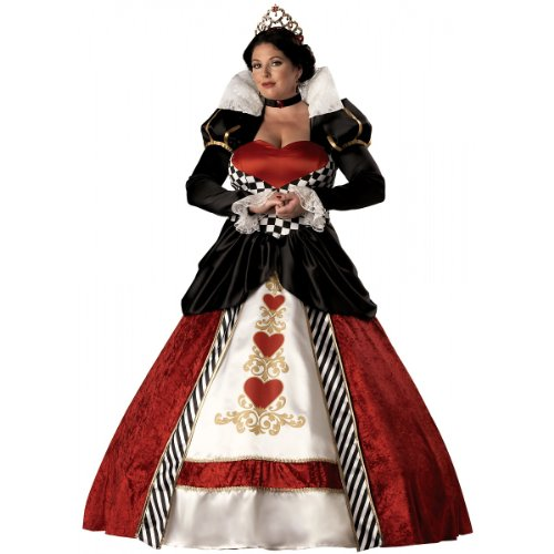 Valentine Plus Costumes Size (InCharacter Costumes Women's Plus Size Queen Of Hearts Costume, Red/White/Black,)