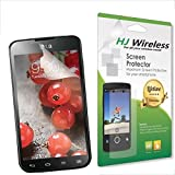 Best LG Optimus L7 II DUAL Screen Protector. High Definition Clear Plastic Film Compatible Premium PET Invisible Phone Screen Protection HD Clear Retail Packaging