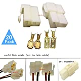 motorcycle electric motor - Lsgoodcare 6.3MM 2 Pin Way Electrical Automotive Wire Connector Kits Male Female Socket Plug Terminal for Motorcycle Car-Pack of 20
