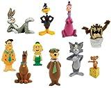 Hanna Barbera / Loony Tunes Classic Cartoon Charater Mini Figure Vending Toy Set of 10 (Fred Flinstone, Tom & Jerry, Daffy Duck, Yogi Bear, Scooby Doo and more...