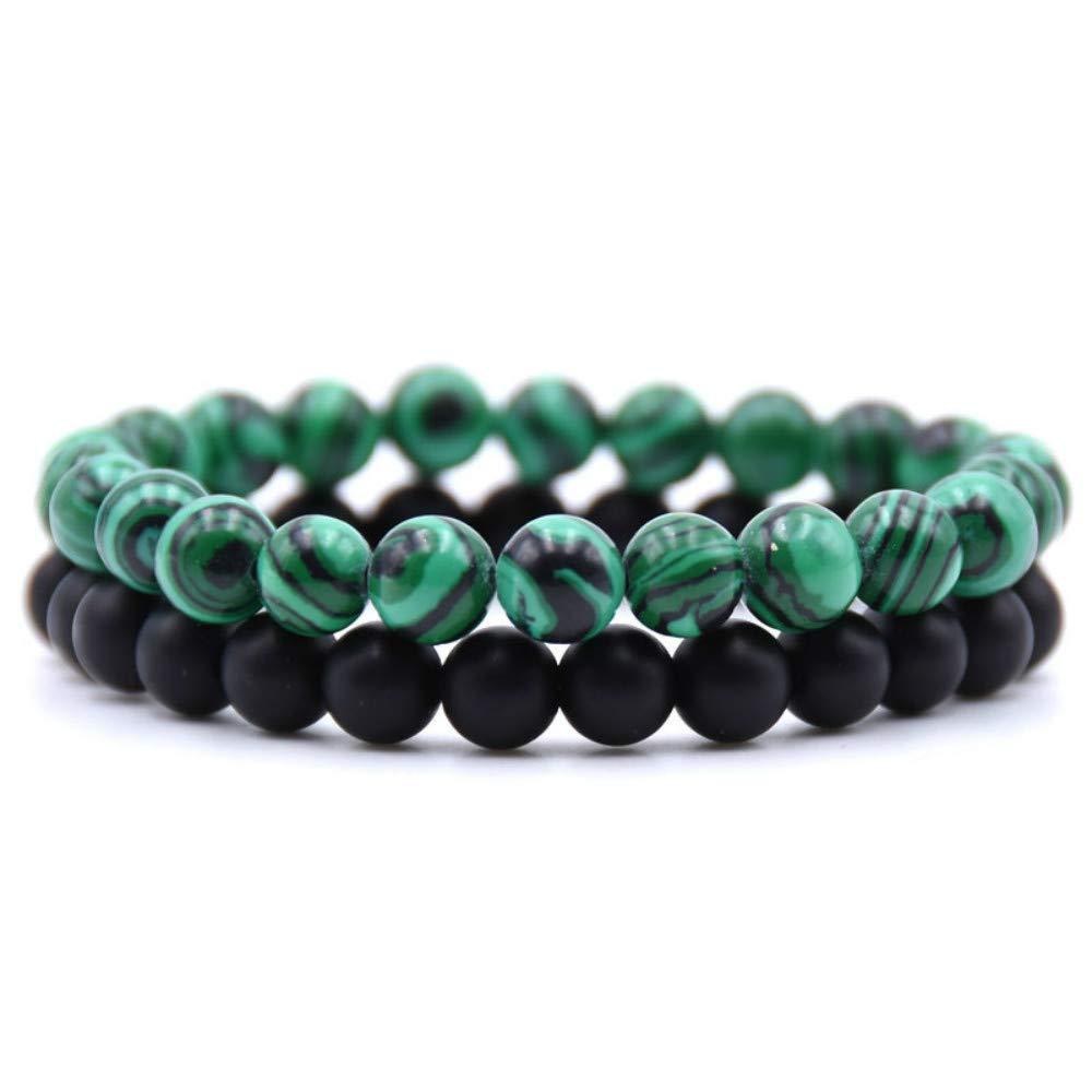 "CHARM Chinese Green Jade Beads Bracelet /""Handmade/"""
