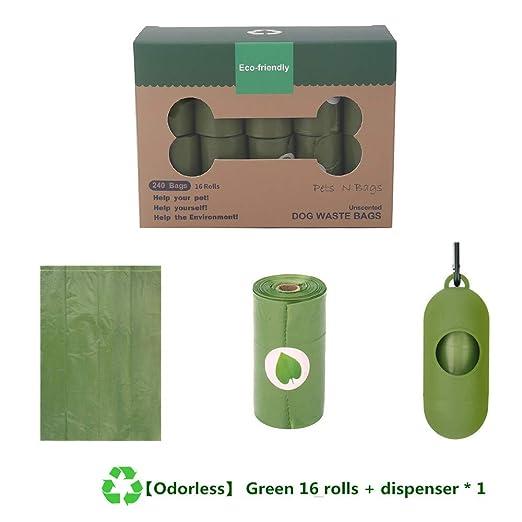 500 Bolsas ecol/ógicas PANMER Bolsas biodegradables para excrementos de Perros