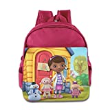 Kids Doc Mcstuffins School Backpack Cool Baby Boys Girls School Bag Pink