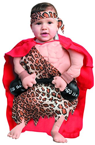 Forum Novelties Baby Boy's Mini Muscle Man Bunting Costume, Multi, Newborn