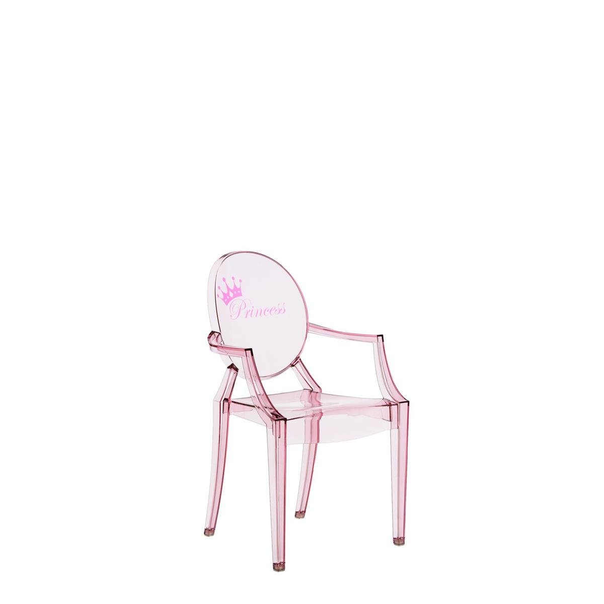 Kartell Lou Ghost Chaise - rose - 2.7 x 37 x 63 cm
