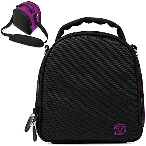 VanGoddy Laurel Plum Purple Carrying Case Bag for Nikon Z6 Z7, D Series, DL Series, Compact to Advanced Digital SLR & Mirrorless Cameras