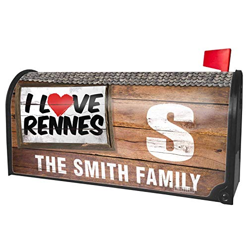 (NEONBLOND Custom Mailbox Cover I Love Rennes)