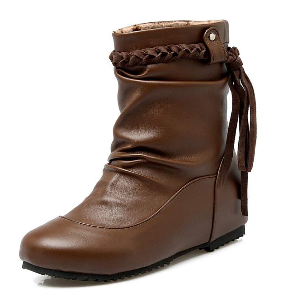 CITW Herbst Damenstiefel Brüllen Stiefel Große Schuhe Decken Einzelne Stiefelmode Damenstiefel,braun,UK4 EUR38