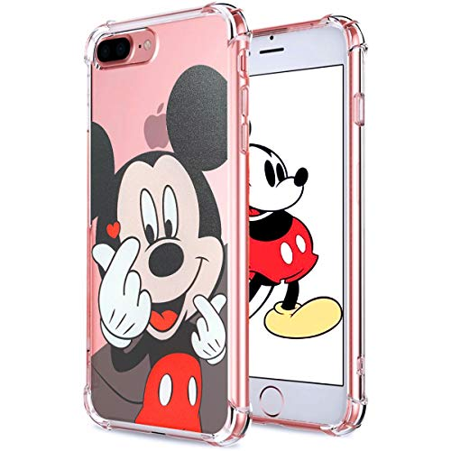 Logee TPU Mickey Mouse Cute Cartoon Clear Case for iPhone 6 Plus/6S Plus 5.5