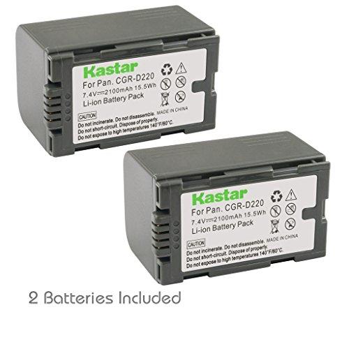 Kastar Battery 2 Pack for Panasonic CGR-D16 D16S CGR-D08 D08S CGR-D14 CGR-D28 D28S, CGR-D120 CGR-D210 CGR-D220 CGR-D320 & Panasonic AG Series, AJ-PCS060G, DZ-MX5000, NV Series, PV Series, VDR-M20