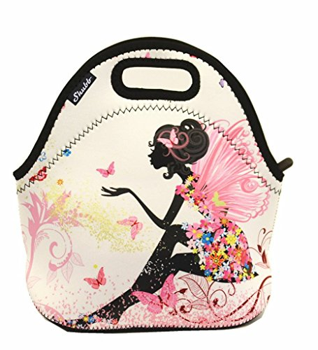 Shubb Lunch Bags, Insulated Lunch Bag, Neoprene Lunch Tote Boxes for Women Men Kids Boys Girls - Pink Fairy