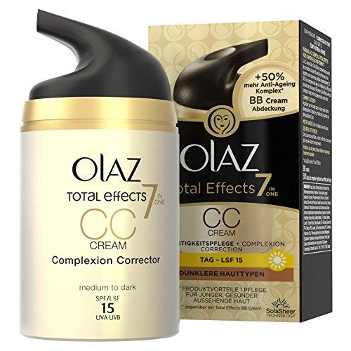 Olaz Total Effects 7-in-1 CC Cream, dunklere Hauttypen, Pumpe, 1er Pack (1 x 50 ml)
