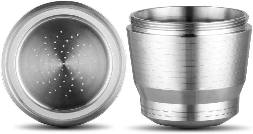 Capsule de recharge r/éutilisable pour les amateurs de caf/é soucieux de lenvironnement compatible avec les machines Nespresso. Nespresso Capsule de caf/é r/éutilisable en acier inoxydable /à remplir