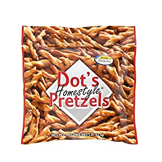 Dots Homestyle Pretzels 1.5 oz. Bags (50 Pack) Lunchbox Sized Seasoned Pretzel Snack Sticks