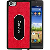 Casotec Metal Back TPU Back Case Cover for Micromax Canvas Fire Plus 4G Q412 - Red