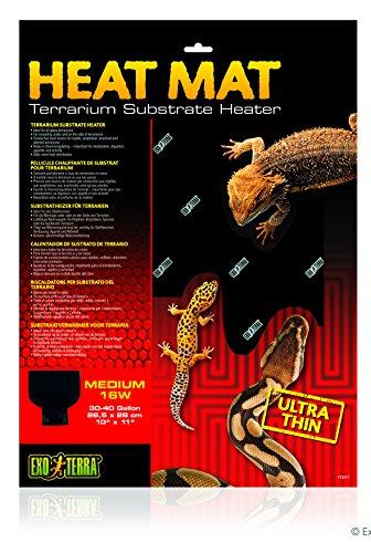 Exo Terra Heat Mat Terrarium Substrate Heater 16 Watt, Medium 1ct by Exo Terra