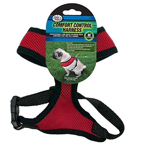 Four Paws Medium Red Comfort Control Dog Harness]()