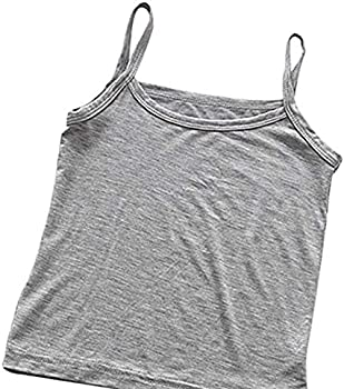 Weixinbuy Kid Toddler Baby Girls Solid Color Basic Camis Spaghetti Strap Summer Tank Top Bottom Vest