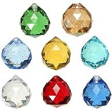 Set of 8 (20mm) Crystal Glass Chandelier Light Ball Prisms Suncatcher Drops Pendants DIY Decoration