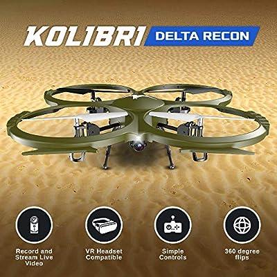 Discovery Delta-Recon U818A WiFi FPV Quadcopter Drone Tactical Edition Military