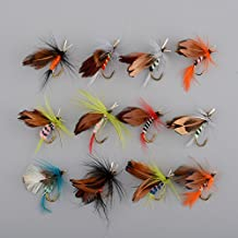 Forfar Fly Fishing Hooks 12pcs Butterfly Style Single Hook Fish Lure Fly Fishing Tackle Trout Salmon Flies Fly Tackle Set