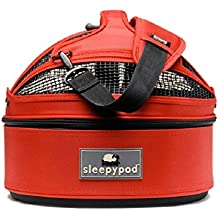 Sleepypod Mini Pet Bed Dog or Cat Traveler Carrier STRAWBERRY RED